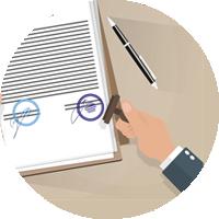 Urkunden-Übersetzung mit Stempel