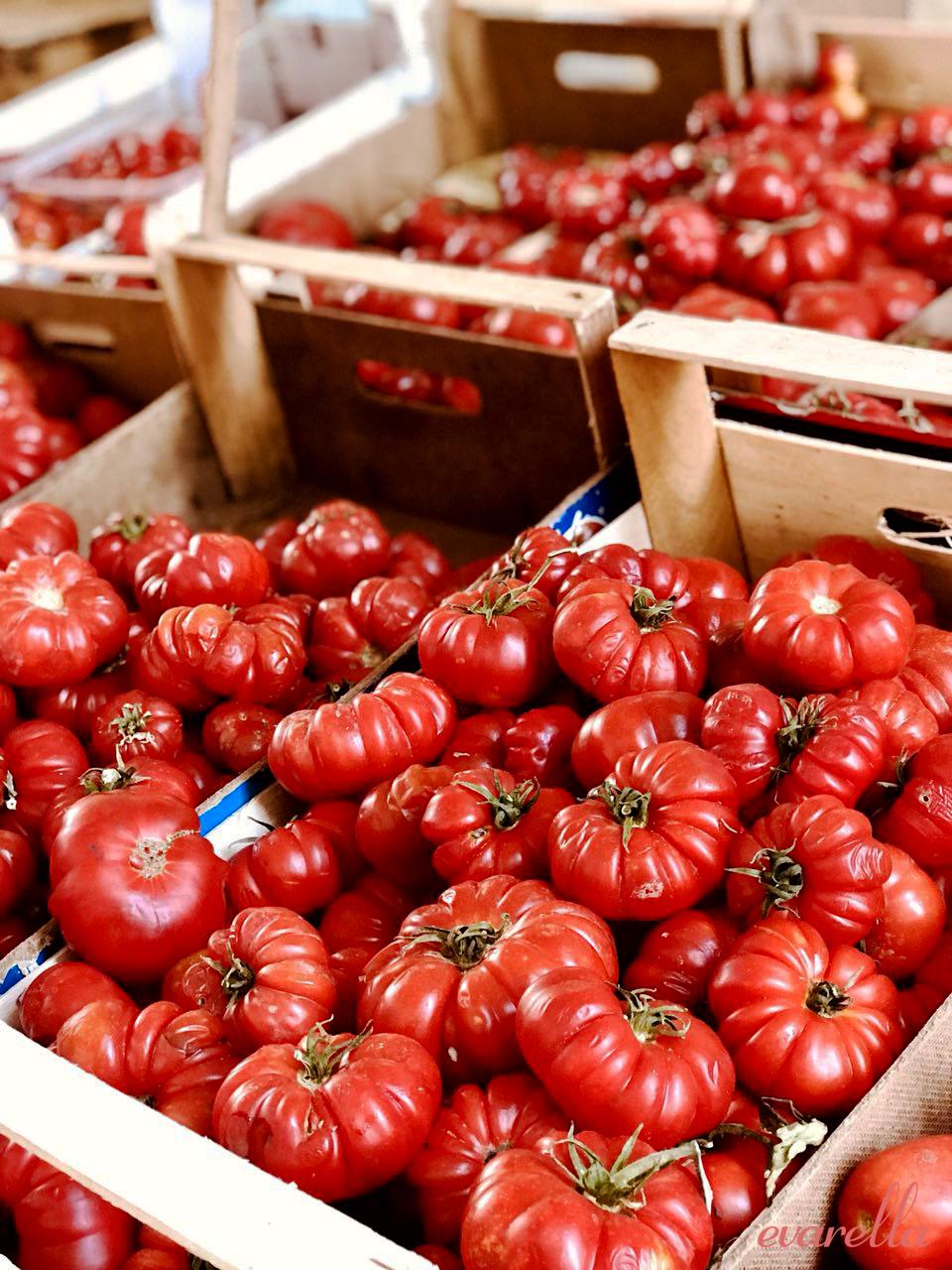 rote tomaten in kiste mercato del capo palermo