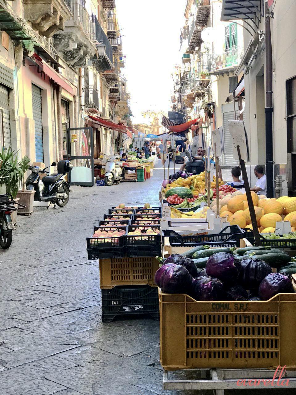 via porta carini mercato del capo palermo