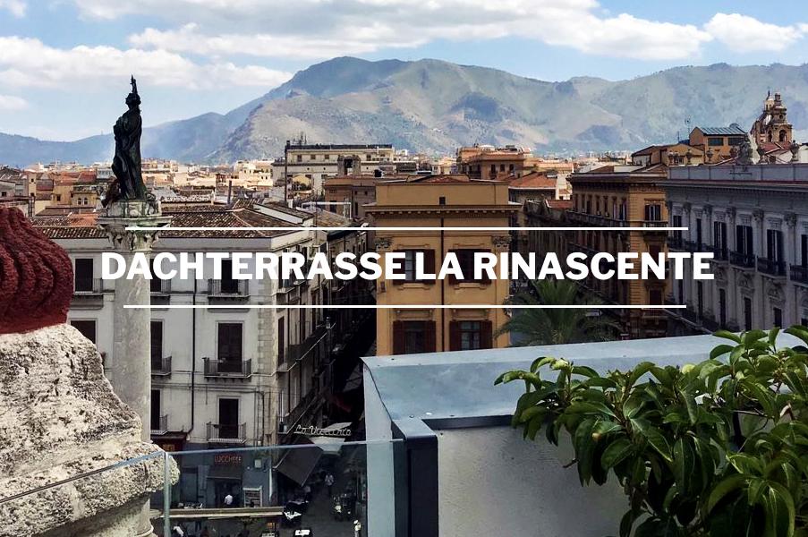 Die beste Aussicht von der Dachterrasse des Kaufhauses La Rinascente in Palermo-Sizilien