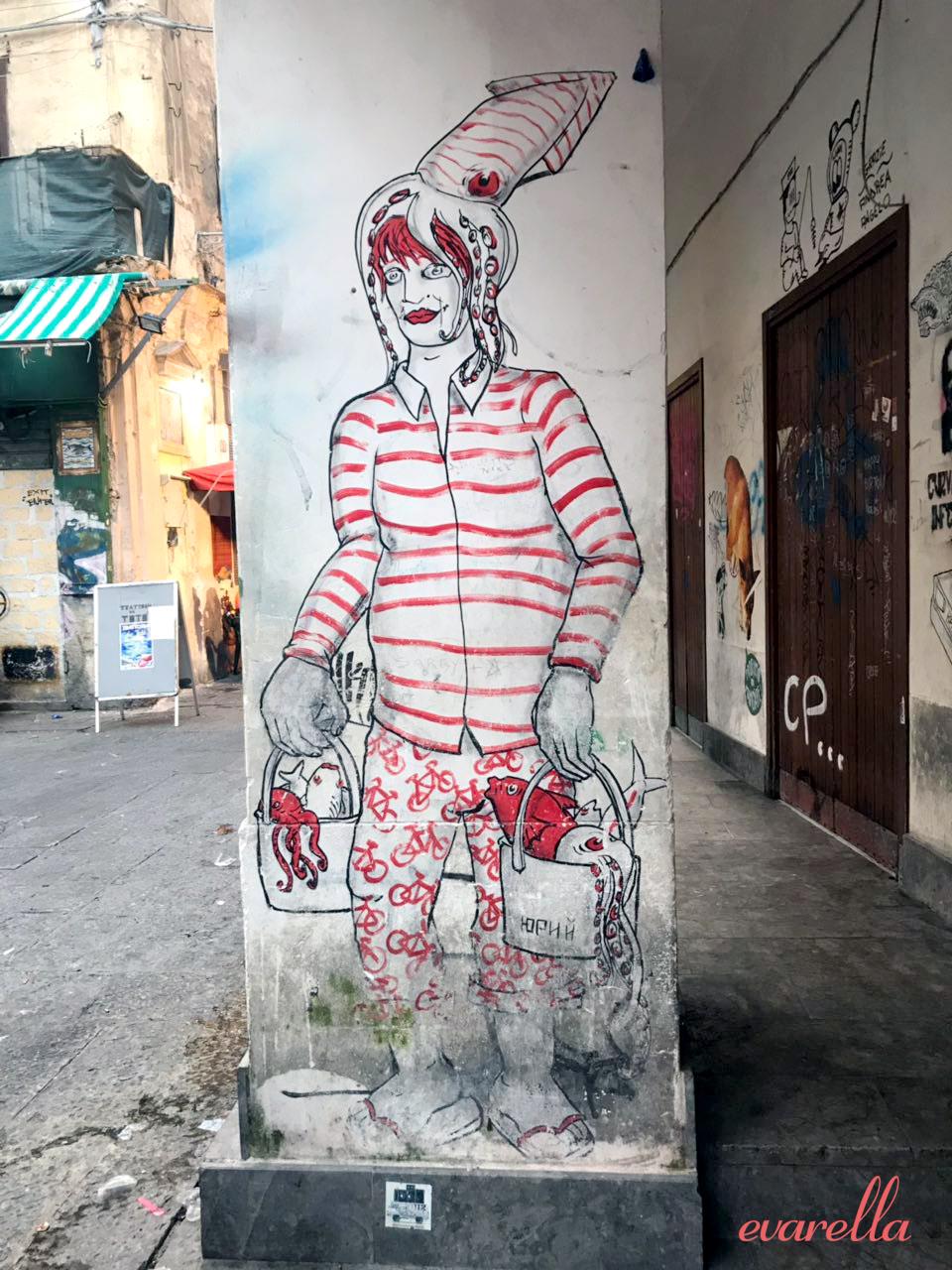 streetart palermo mercatodelcapo meeresfruechte