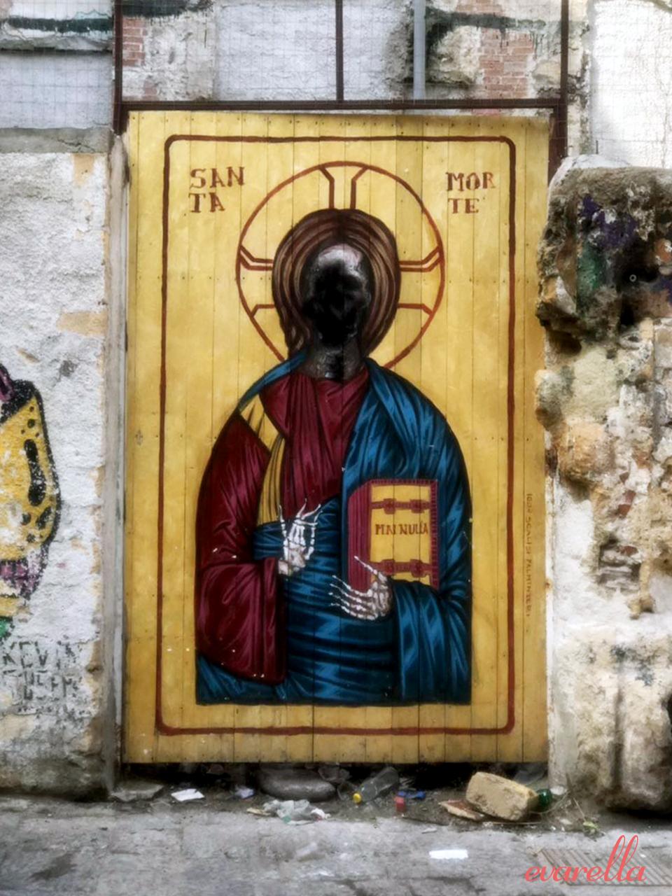 streetart palermo santamorte