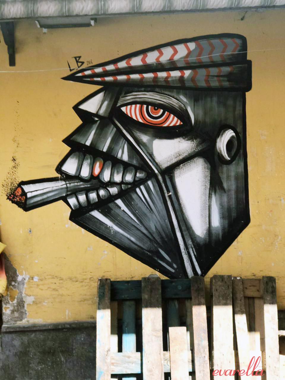 streetart palermo sizilien raucher